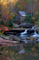Glade Creek Grist Mill Reflection