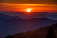 Sunset Over the Cowee Mountains