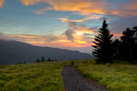 The Appalachian Trail at Sunset