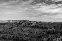 Dawn at Lipan Point - B+W