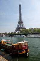 Eiffel Tower and Houseboat
