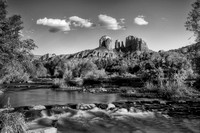 Cathedral Rock and Oak Creek - B+W