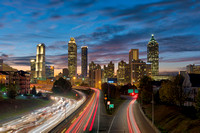 Sunset over Atlanta from the Jackson Street Bridge