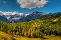 San Juan Mountains and aspen groves