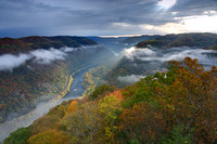 Sunbeams on the New River Gorge