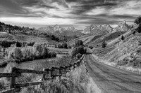 Gros Ventre Road - B&W