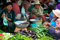 Women at a Cambodian market