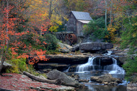 Glade Creek Grist Mill and Fall Foliage