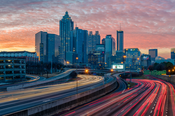 Atlanta at Sunrise - landscape