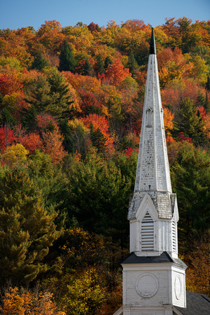 Steeple and Fall Foliage