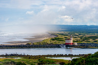 Coquille River Lighthouse and Morning Fog